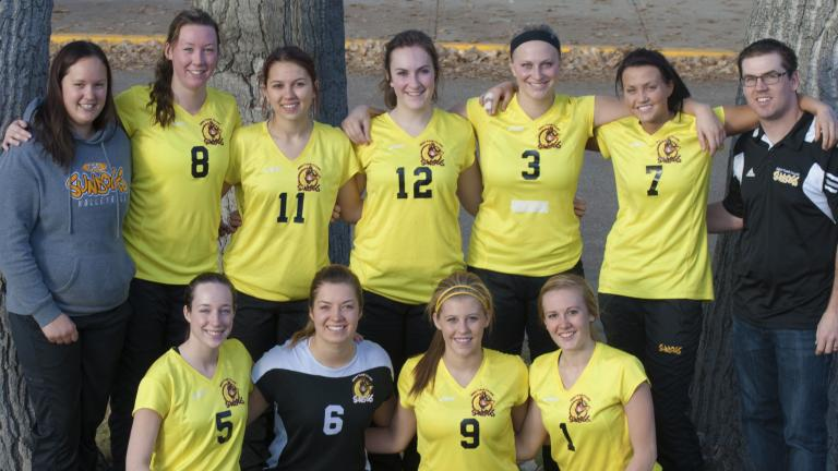 SunDogs Women's Volleyball team