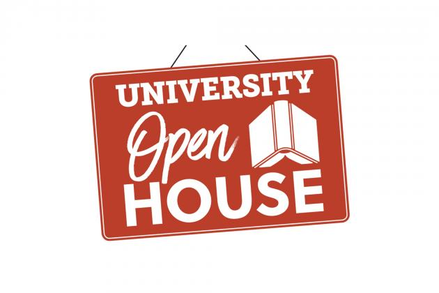 University Open House sign